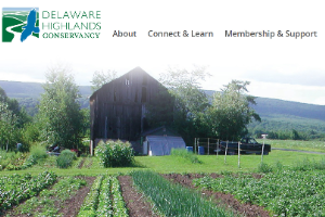 Delaware Highlands Conservancy website home page (3/2020)