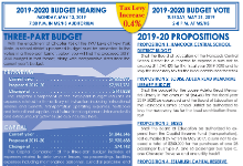 Hancock 19-20 Budget Flyer