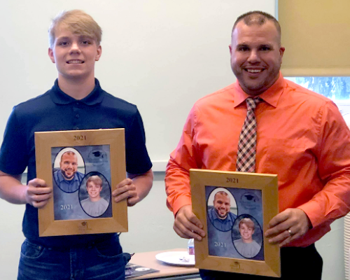 Senior Makowski, mentor Davis honored