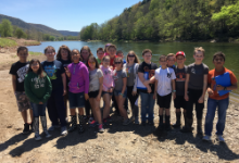 Hancock students at Delaware River