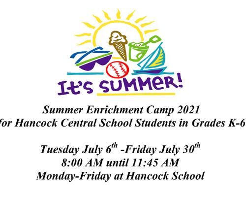 K-6 Summer Enrichment Camp!