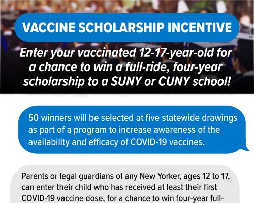 Vaccine Scholarship Incentive