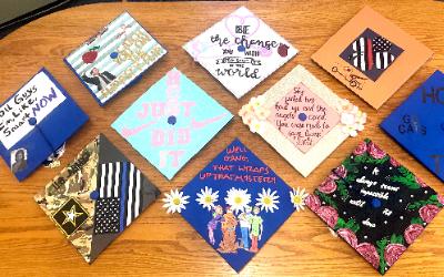 2018 Hancock graduation caps