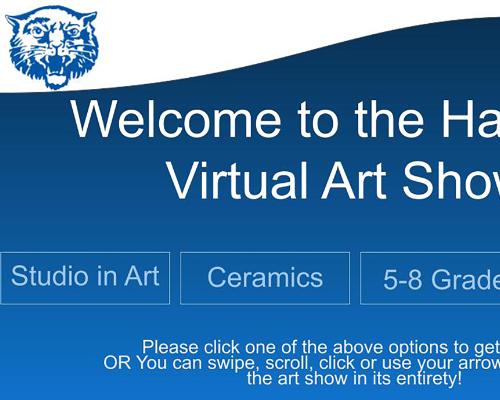 Virtual Art Show slide