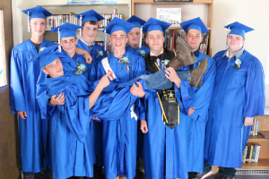 Hancock students at graduation