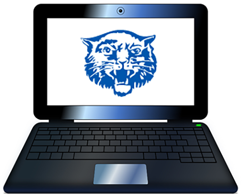 Laptop with Hancock logo (10/2020)