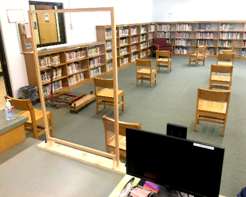 Library setting during COVID (10/2020)