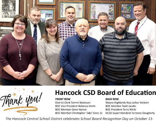 Hancock CSD Board of Education group pic (10/2020)