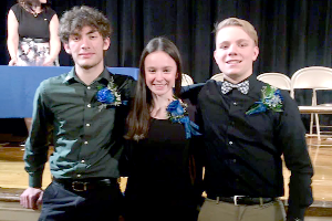 Three inducted into National Honor Society