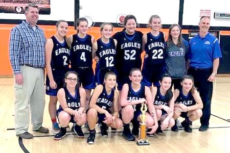 Deposit/Hancock girls basketball team (2020)
