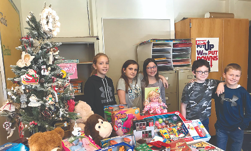 Toy Drive with students 2017