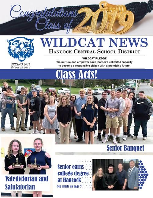 Newsletter cover Spring 2019