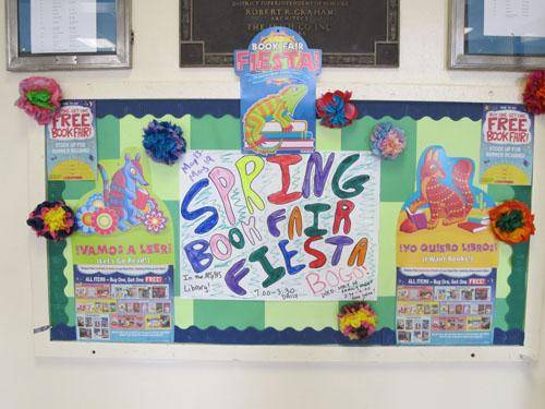 Spring Book Fair Fiesta sign