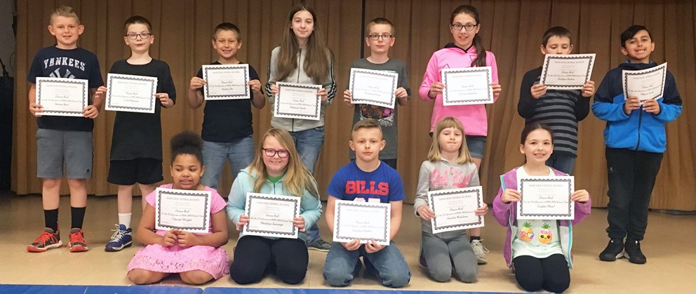 Hancock Elementary honor roll students