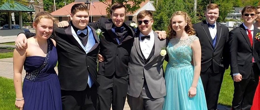 Hancock students at 2019 Prom