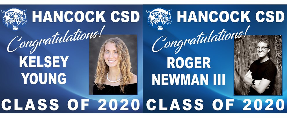 Congratulations! Kelsey Young and Roger Newman III, Hancock CSD Class of 2020