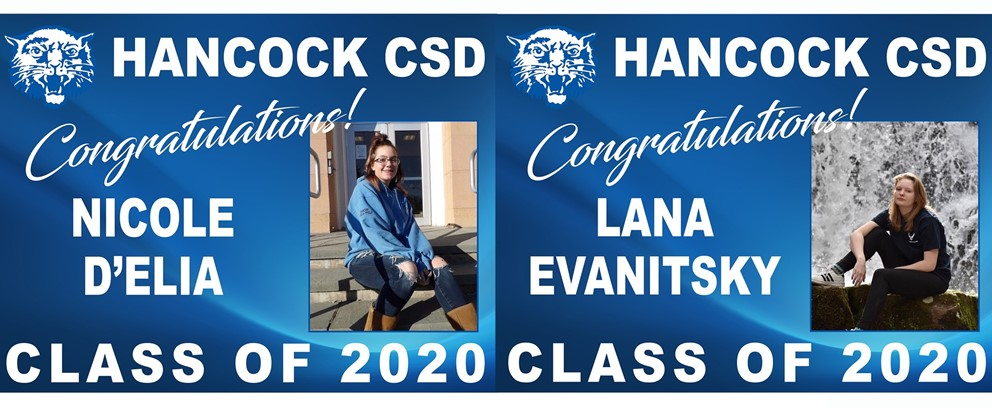 Nicole D'Elia and Lana Evanitsky Class of 2020 Posters