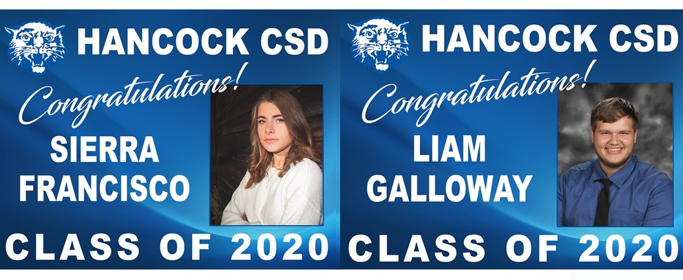 Sierra Francisco and Liam Galloway Class of 2020 Posters