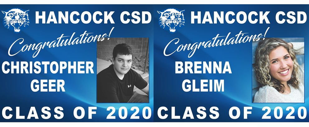 Christopher Geer and Brenna Gleim Class of 2020 Posters