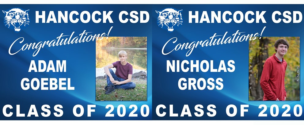 Adam Goebel and Nicholas Gross Class of 2020 Posters