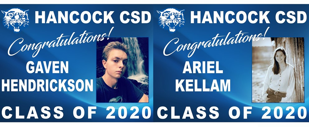 Gaven Hendrickson and Ariel Kellam Class of 2020 Posters