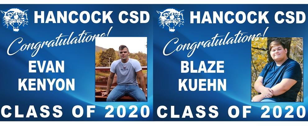 Evan Kenyon and Blaze Kuehn Class of 2020 Posters
