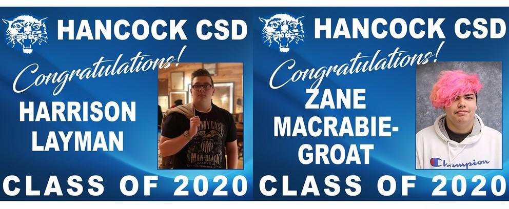 Harrison Layman and Zane MacRabie-Groat Class of 2020 Posters