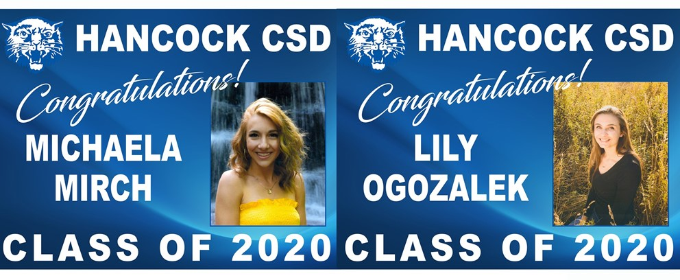 Michaela Mirch and Lily Ogozalek Class of 2020 Posters