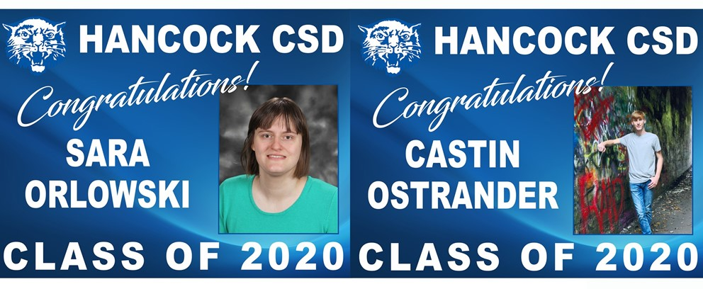 Sara Orlowski and Castin Ostrander Class of 2020 Posters