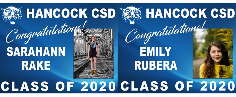 Sarahann Rake and Emily Rubera Class of 2020 Posters