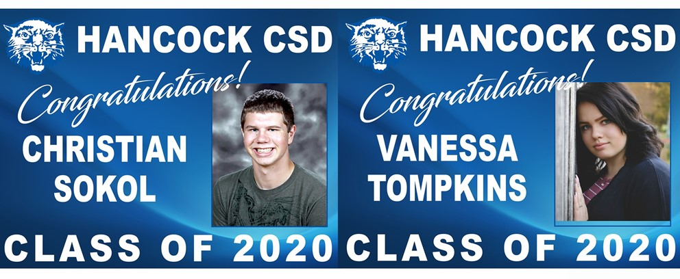 Christian Sokol and Vanessa Tompkins Class of 2020 Posters