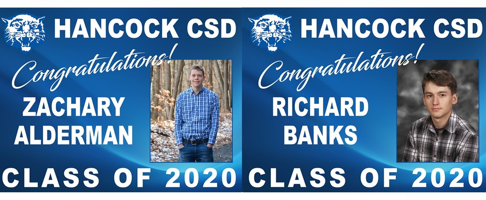 Zachary Alderman and Richard Banks Class of 2020 Posters