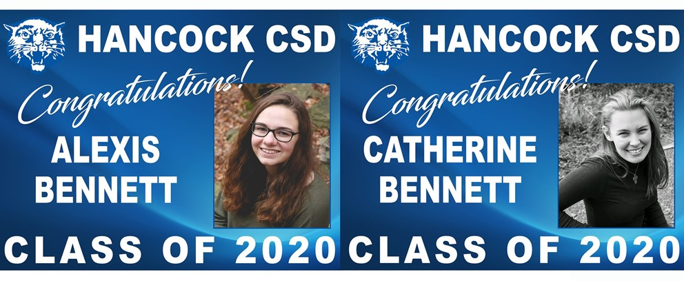 Alexis Bennett and Catherine Bennett Class of 2020 Posters