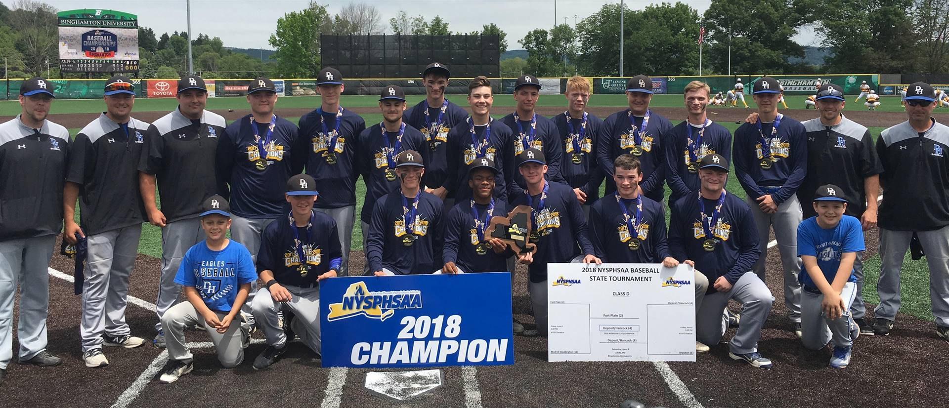 Deposit/Hancock state champion baseball team 2018