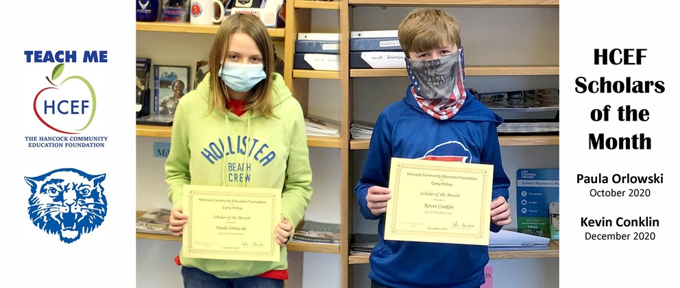 HCEF Scholars of the Month: Paula Orlowski, October 2020 and Kevin Conklin, December 2020