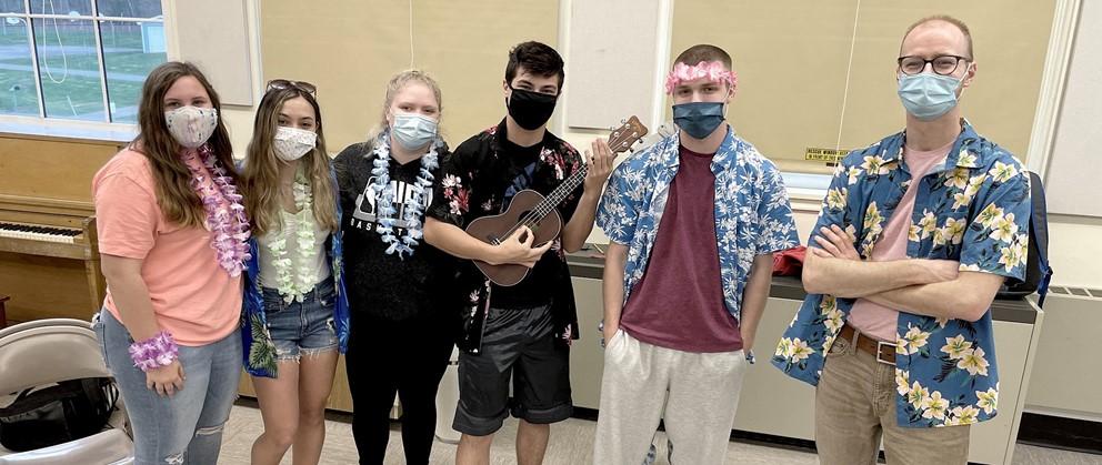 Group music picture Hawaiian Day Spirit Week (4/2021)