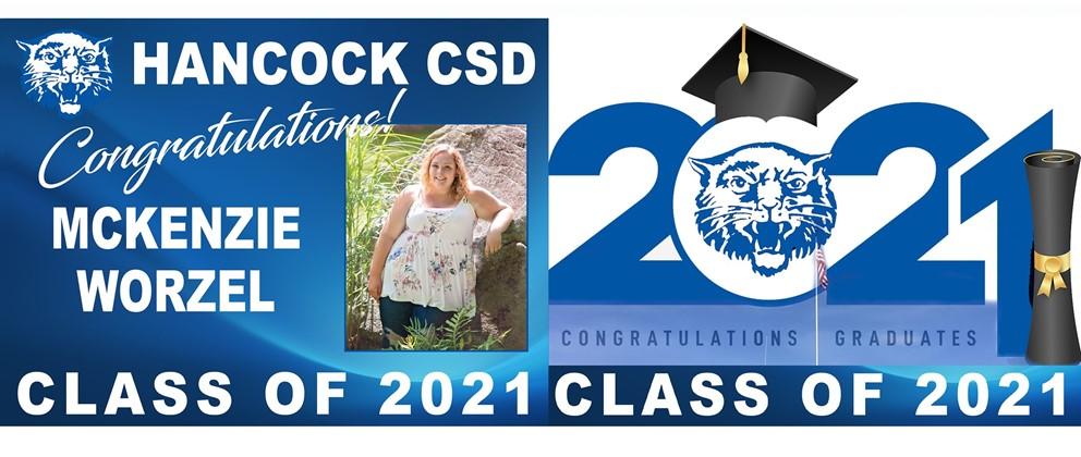 Mckenzie Worzel and Congratulations Graduates Class of 2021 illustration